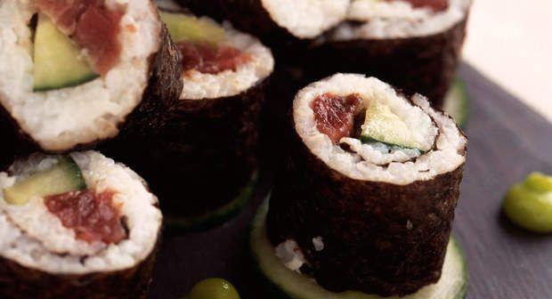 Maki thon concombreVoir la recette du Maki thon concombre >>