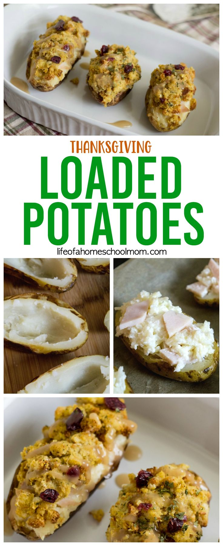 Loaded Thanksgiving Potatoes Recipe {using Thanksgiving leftovers}