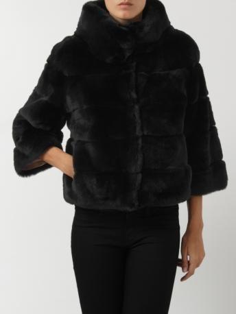 S.W.O.R.D.-pelliccia nera-black fur jacket-S.W.O.R.D. shop online