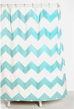 maybe with other colorful accents?Bathroom Design, Urbanoutfitters, Zigzag Shower, Urban Outfitters, Kids Bathroom, Chevron Shower, Bathroom Ideas, Shower Curtains, Chevron Stripes