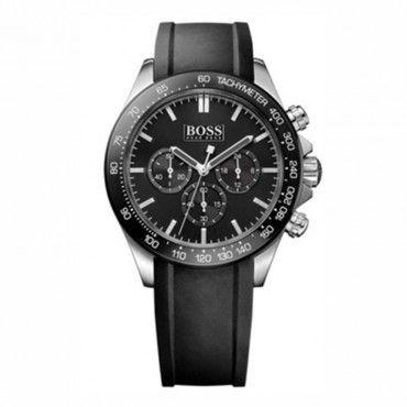 1513341 Ανδρικό μοντέρνο σπορ quartz ρολόι HUGO BOSS με χρονόμετρο, μαύρο καντράν & μαύρο καουτσούκ | Ανδρικά ρολόγια BOSS ΤΣΑΛΔΑΡΗΣ στο Χαλάνδρι #Boss #χρονογραφος #λουρι #ανδρικο #ρολοι