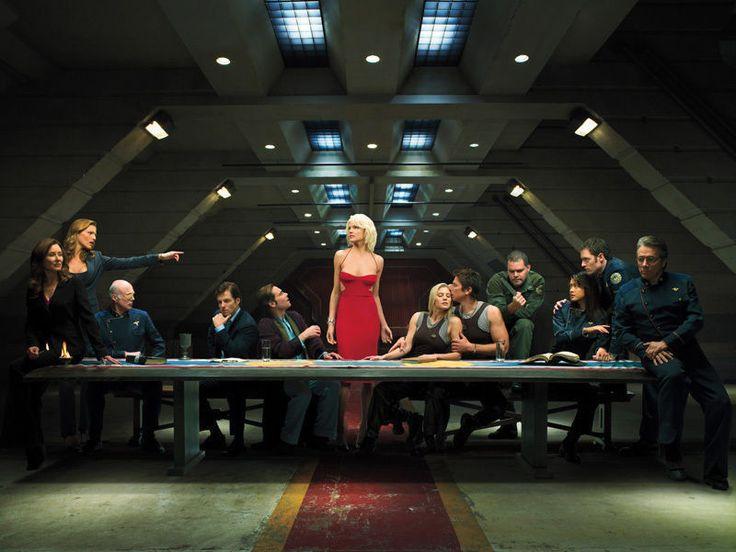 Тв-mail Battlestar Galactica тайная вечеря огромный стены домашнего декора 40 x 60 см OP00378 - стены дома декор-mail