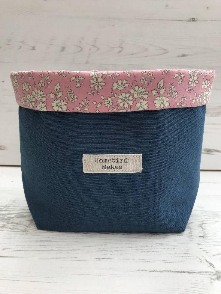 Toy Storage, Liberty Capel fabric basket, Fabric storage basket, Craft storage, Make up storage, Hobby storage, Liberty of London