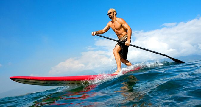 Stand up paddle surfing or stand up boarding is an interesting water sports ...