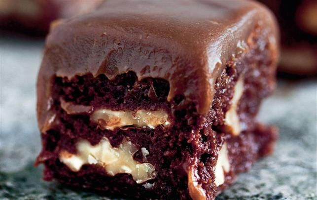 Brownies med karamel