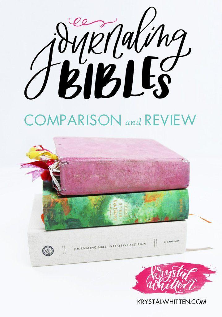 Journaling Bibles Comparison & Review - best Bibles for journaling, #illustratedfaith – Krystal Whitten