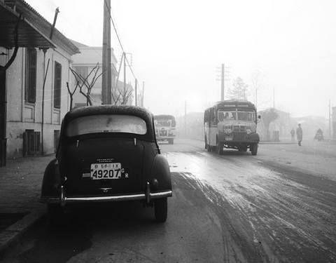 Η κυκλοφορία στη Λάρισα το 1958. 23ης Οκτωβρίου και Υψηλάντου φωτ.Τάκης Τλούπας