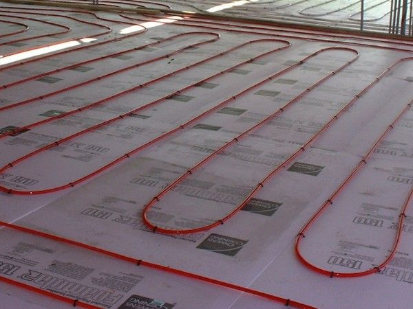 23 best geothermal installations images on pinterest for Best flooring for hydronic heat