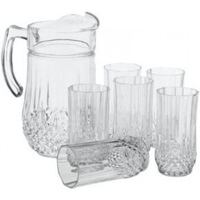 Cristal D'Arques Longchamp 7 Piece Set (Jug & 6 Highballs 28cl)