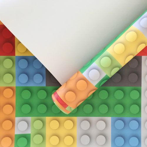 Lego wallpaper perfect for a boys bedroom!