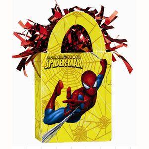 1178 - Spiderman Balloon Weight Balloon Weight Tote Spiderman (14cm High x 4cm Deep x 7.5cm Wide) Weighs 175 grams - Each