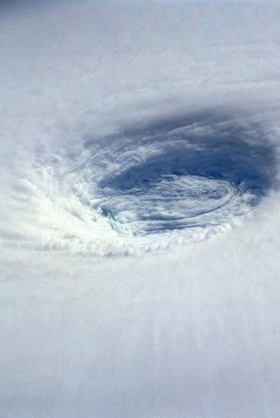 Storm Eye From Space