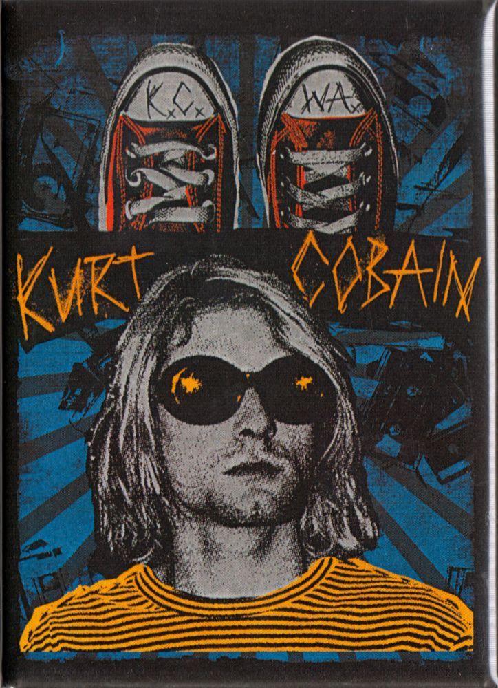 31067 Kurt Cobain Nirvana Grunge Music Band 90s Refrigerator Fridge Magnet