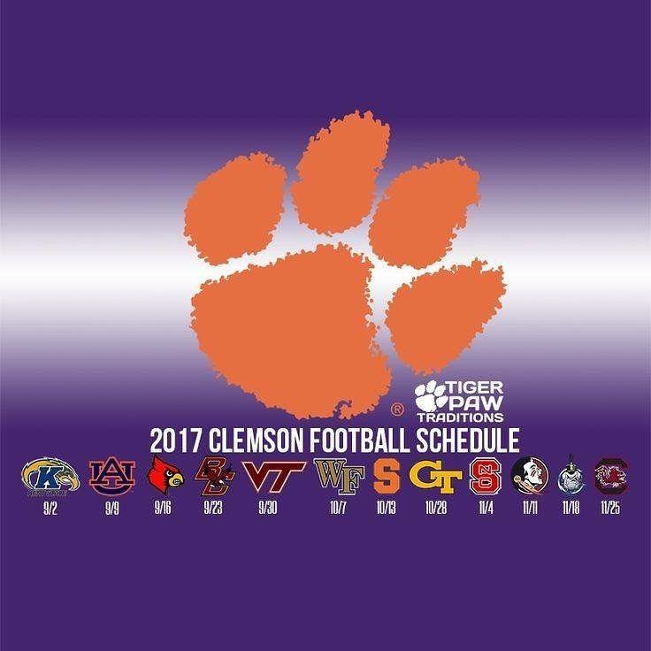 Clemson Football 2017 Schedule