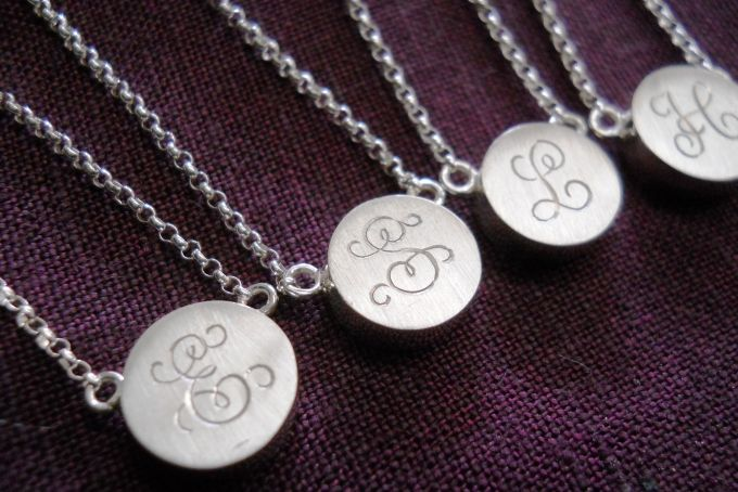 custom initial monogram necklaces by thula