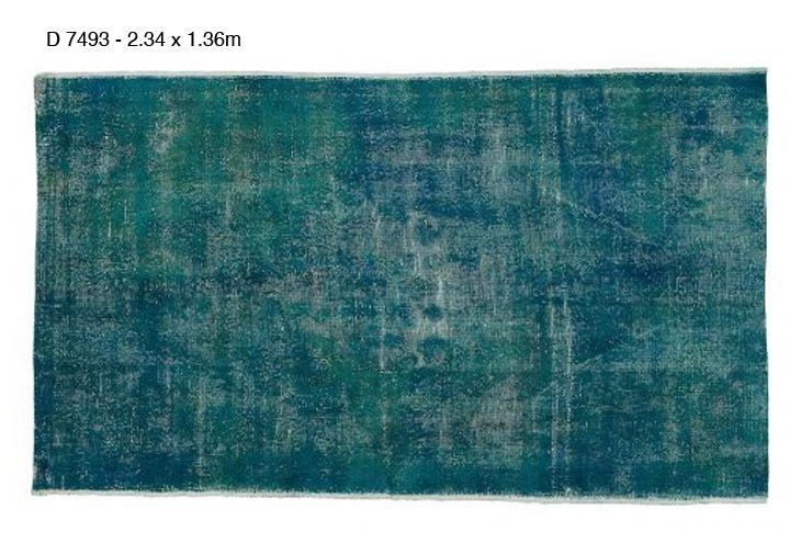 Decolorized vloerkleed zeegroen / carpet
