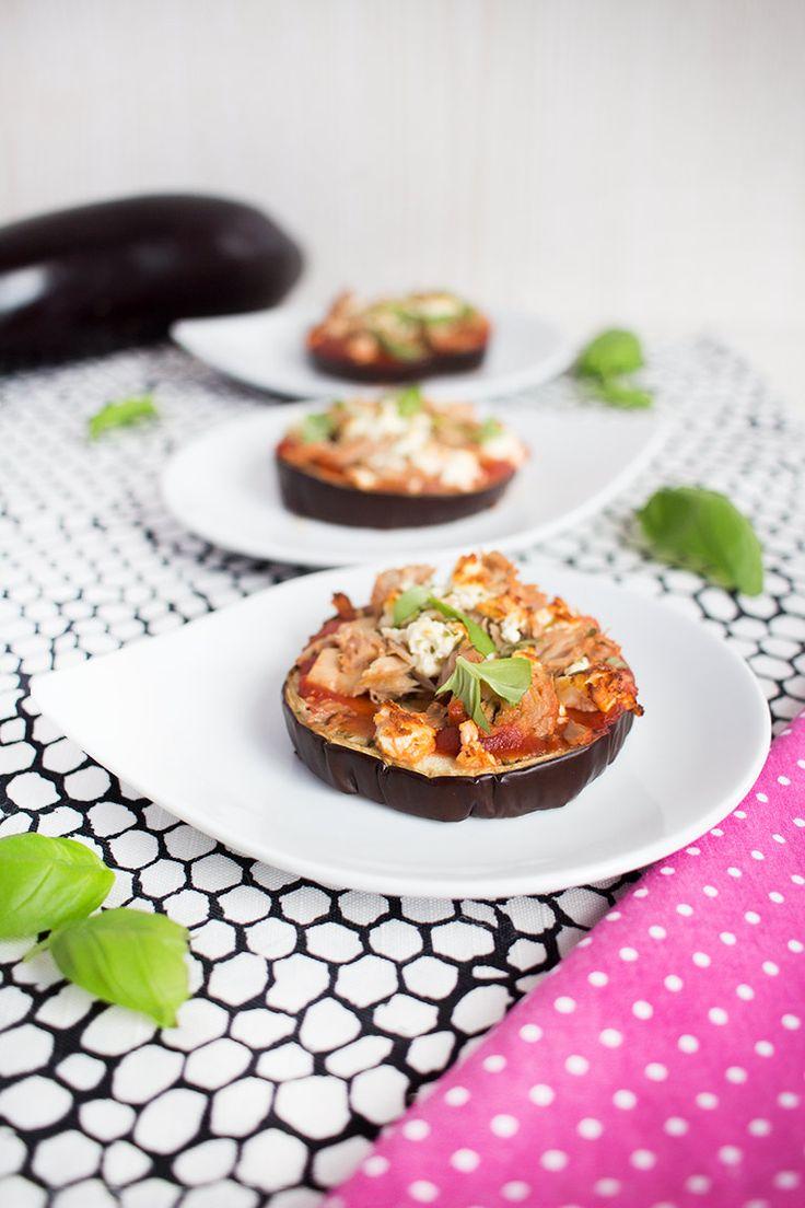 Low Carb Auberginenpizza mit Thunfisch – Low Carb Köstlichkeiten