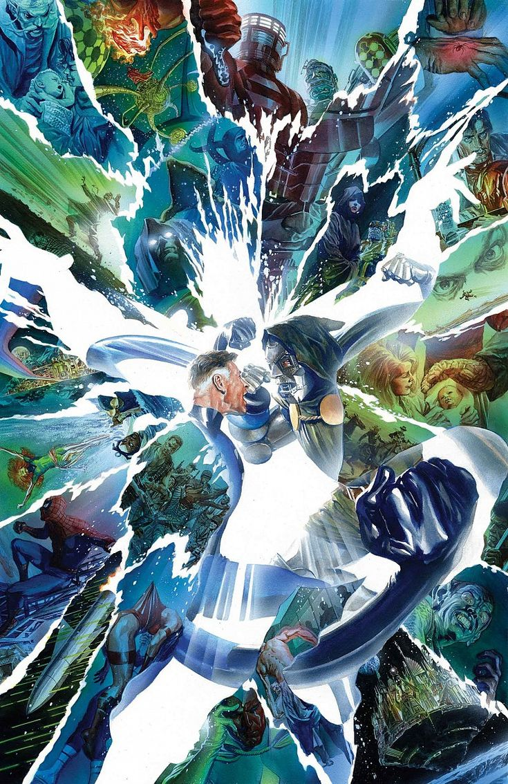 Secret Wars 9 Cover Art by Alex Ross Textless Marvel Comics Ends The Fantastic Four Alongside Secret Wars