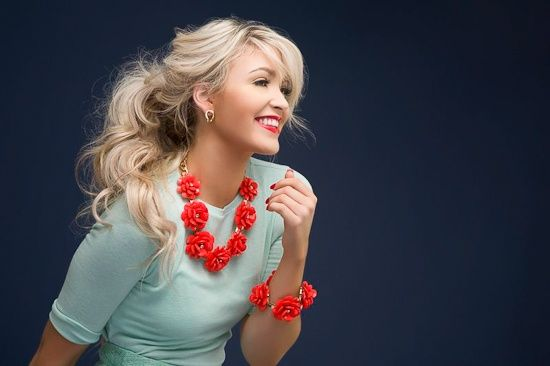 Love the red with turquoise