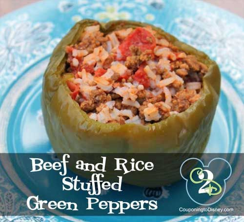 When I was grocery shopping the other day, I picked up some green bell peppers from Aldi for a fantastic price!  This is an excellent crock pot recipe that can be made during the summer to help reduce your power bill (believe it or not, your oven does have a part in heating up your house!) or during the winter for a hearty, filling supper.