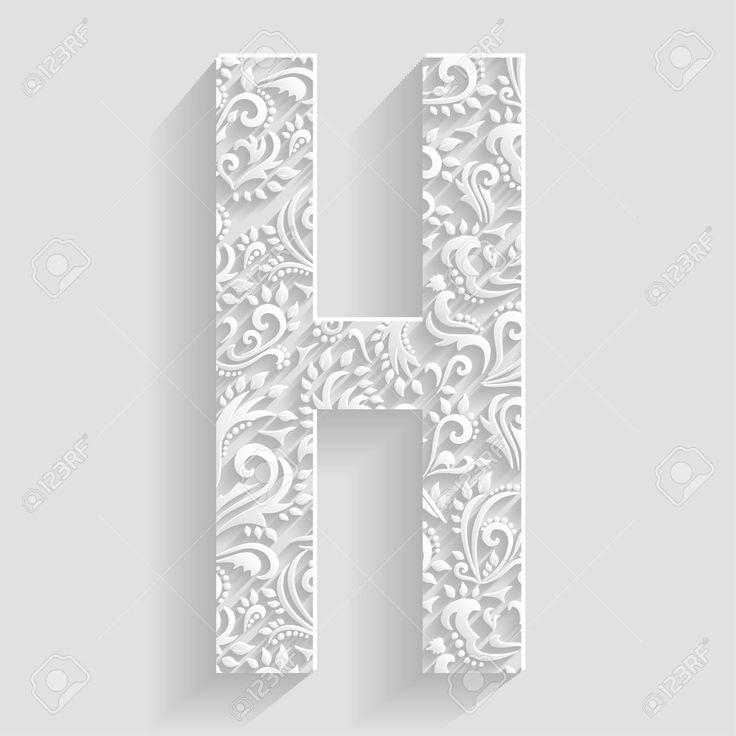 51 best fonts h images on pinterest script fonts typography and fonts 42001261 letter h vector floral invitation cards decorative altavistaventures Image collections