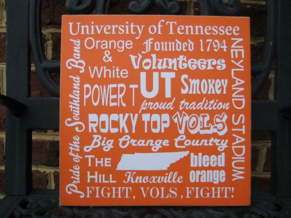 university of tennessee sign tennessee subway art. Black Bedroom Furniture Sets. Home Design Ideas