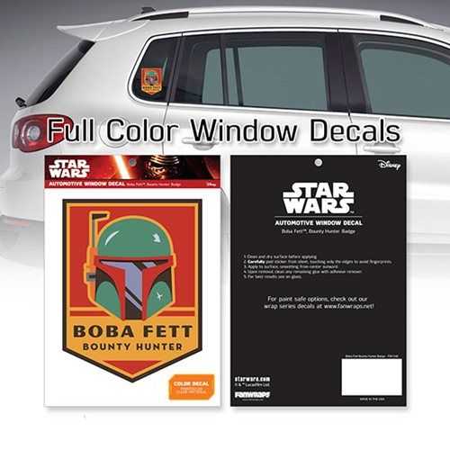 Star Wars Boba Fett Bounty Hunter Badge Window Decal ...