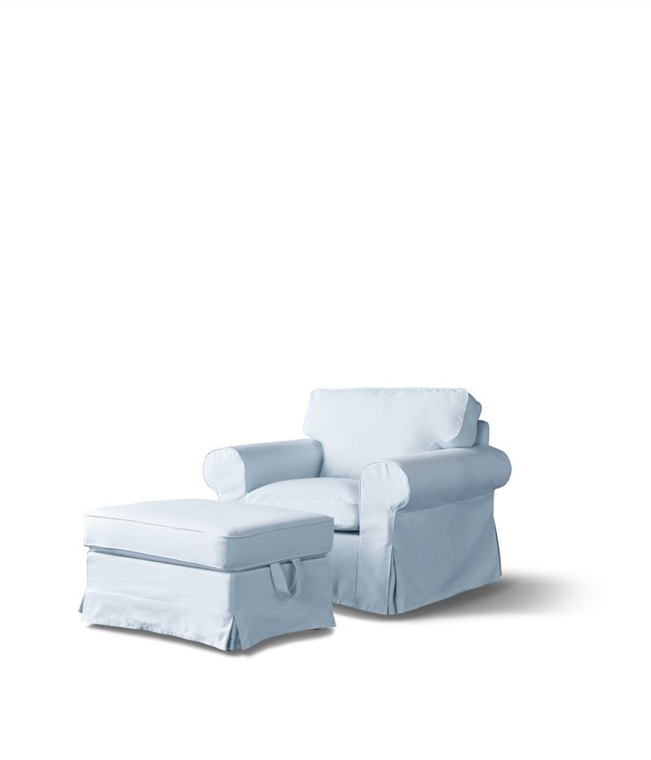 EKTORP serie   #IKEAcatalogus #nieuw #2017 #IKEA #IKEAnl #woonkamer #bank #fauteuil #voetenbank #lichtblauw