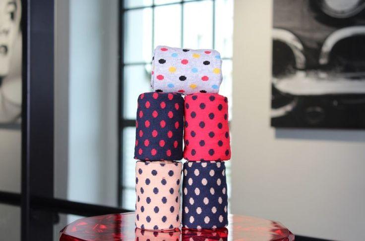 barevné ponožky rosenbull puntíkatá pětka komplet