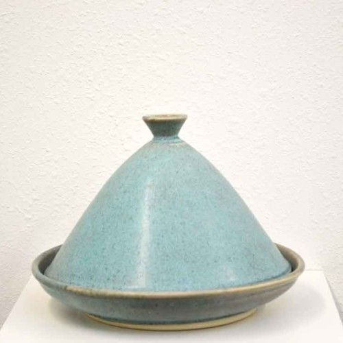 Blue green clay tajine kneeland co mercado ceramica for Utensilios de cocina arabe