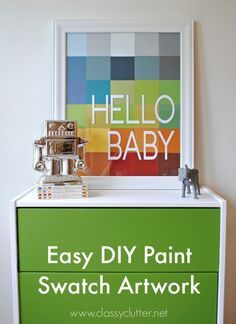 DIY Paint Swatch Art - Check more details on www.prettyhome.org