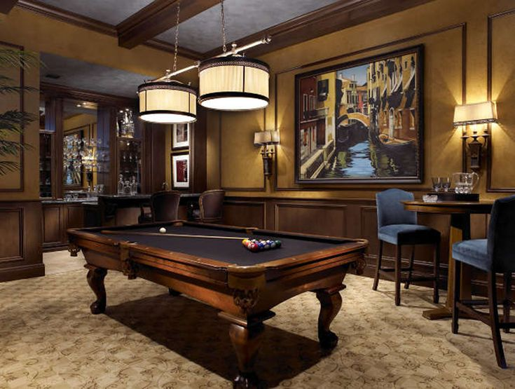 Pool Table Ideas it all depends on your creativity and your home decor check out the following 30 billiard table ideas and find most appropriate inspiration Interior Design Firms South Florida Transitional Design Burgundy Roompool Table