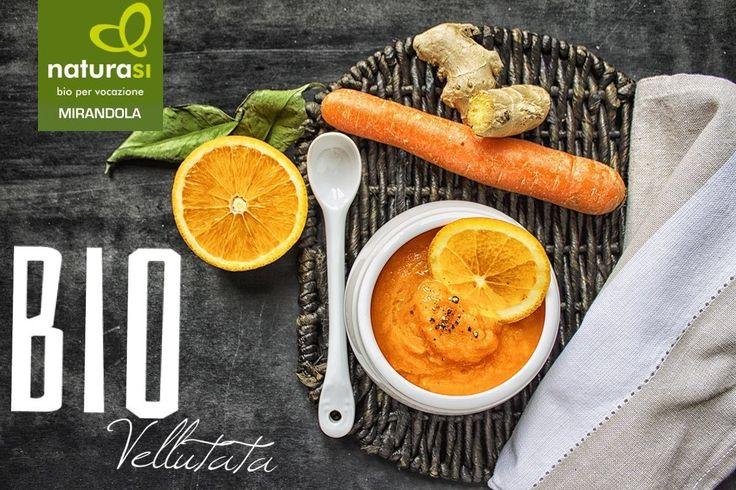 vellutata BIO di carote, arance e zenzero fresco !Le carote sono ricche di fibra e di vitamina A, utile per la pelle e la vista. L'assorbimento della vitamina A è favorito dal calore e dalla presenza di un condimento grasso come l'olio!Il succo di arancia #bio contiene vitamina C, utile al funzionamento del sistema immunitario; lo zenzero, infine, oltre ad aromatizzare, conferisce proprietà disintossicanti, antinfiammatorie, digestive ed è utile in caso di raffreddore ed influenza.