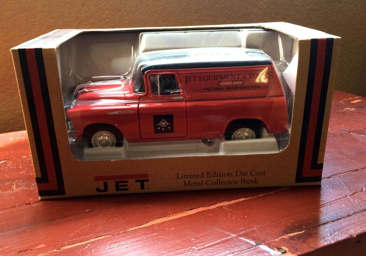 JET Equipment & Tools Chevrolet Panel Truck Limited Edition Die Cast Bank #SpecCast