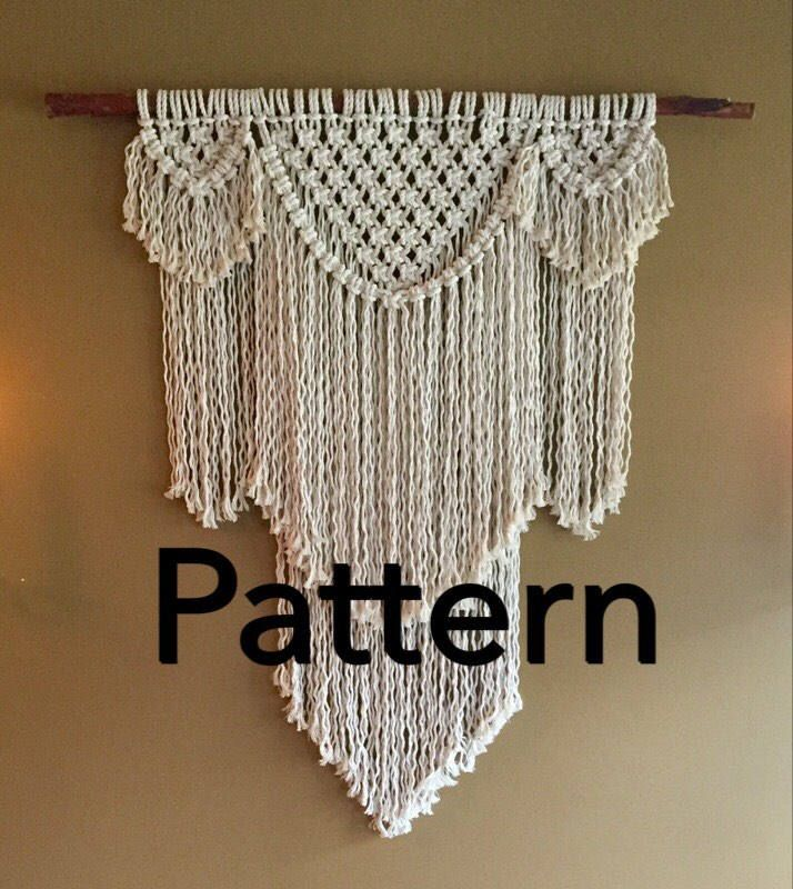 Beauregard Macram 233 Pattern Beginner Wall Hanging Pdf Diy