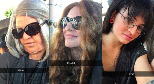 Pruiken, nepneuzen - en tóch werden Kendall, Kylie en Khloé gesnapt door de paparazzi >>