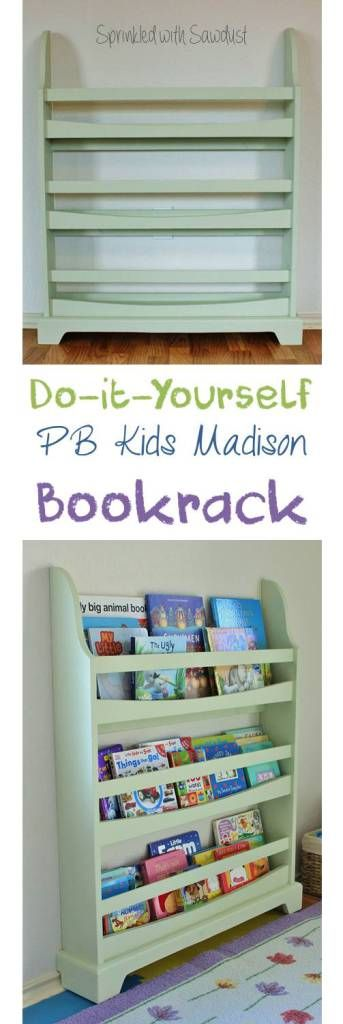 Detailed DIY tutorial - how to make a Pottery Barn Kids Madison bookrack