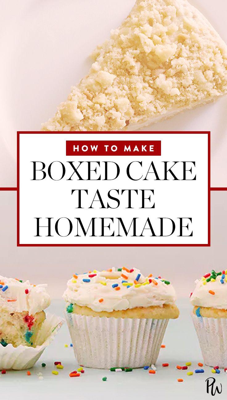 This Surprising Ingredient Makes Boxed Cake Mix Taste Homemade #homemade #boxedcake #cake #dessert