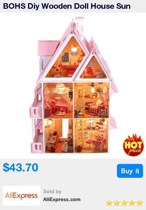 BOHS Diy Wooden Doll House Sun Alice Birthday Gift Presents Large Villa Manual Building Model Dioramas * Pub Date: 19:35 Jun 30 2017