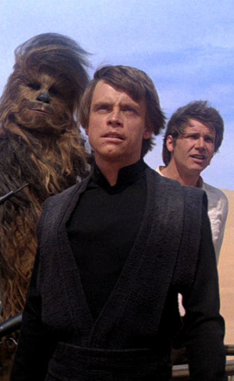 Luke, Han, and Chewie!!! 3 of my favorite characters!   Return of the Jedi