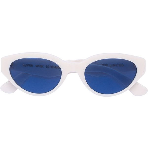 Retrosuperfuture x Wok Drew sunglasses (295 NZD) ❤ liked on Polyvore featuring accessories, eyewear, sunglasses, white, unisex sunglasses, retrosuperfuture, white sunglasses, white glasses and retrosuperfuture sunglasses