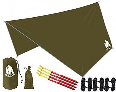 CHILL GORILLA HEX HAMMOCK RAIN FLY TENT TARP Waterproof Camping Shelter. Gear.