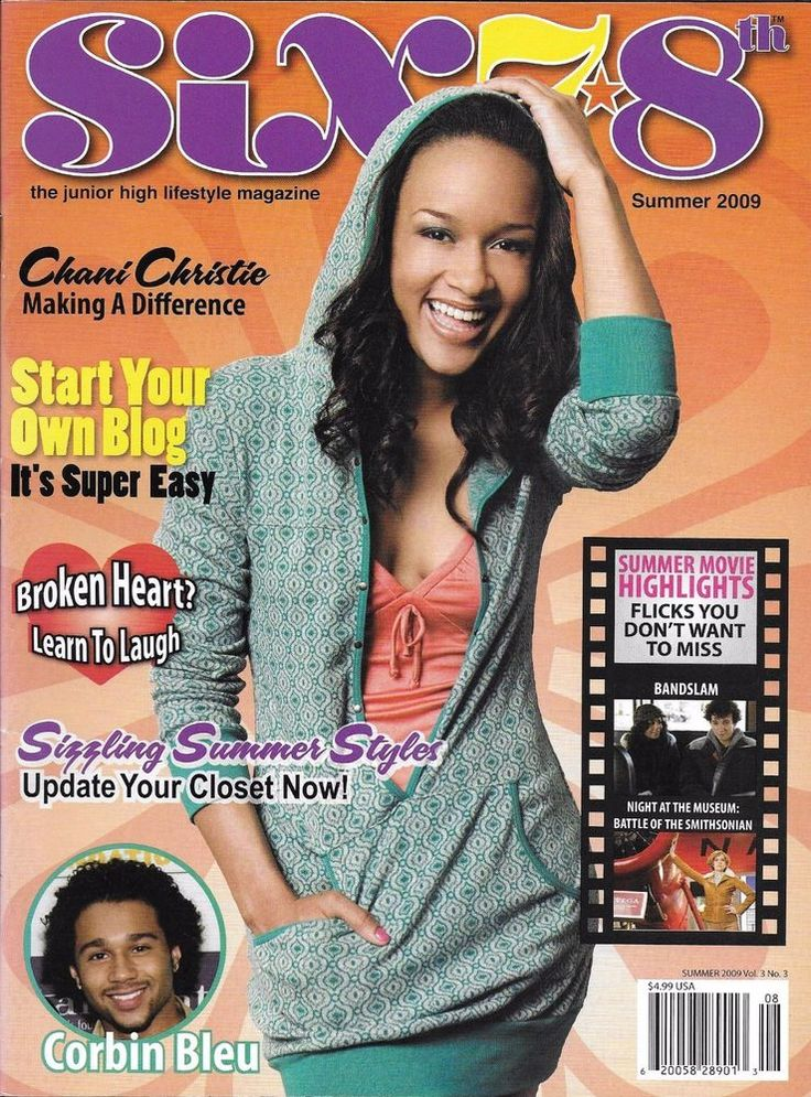 Six 78th teen magazine Chani Christie Corbin Bleu Blogging Summer fashion