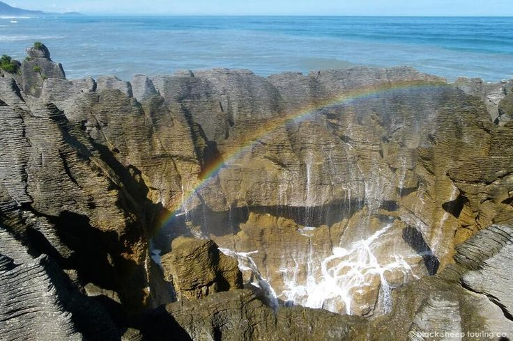 Pancake Rocks Nieuw Zeeland. Oergeweld van de Natuur