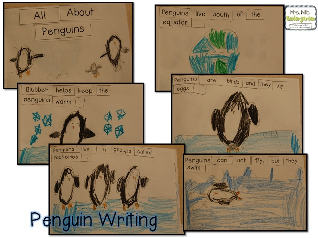 Penguin Informational Writing Activity (from Deanna Jump)