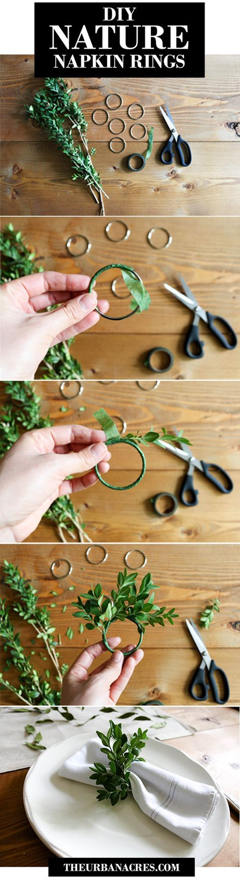 DIY Nature Napkin Rings for your table