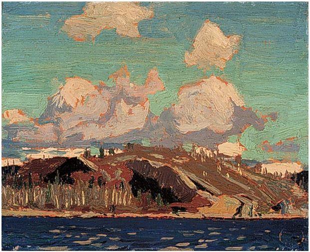 Tom Thomson Catalogue Raisonné | Rocky Shore, Summer or fall 1916 (1916.77) | Catalogue entry