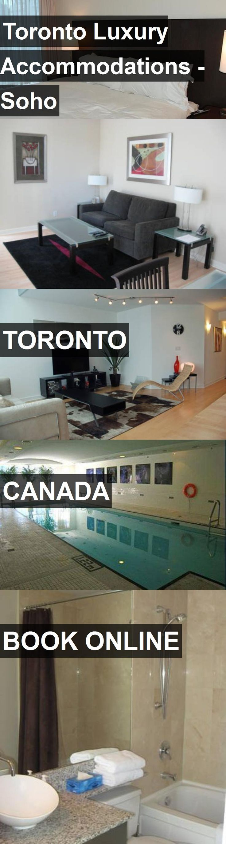 Hotel Toronto Luxury Accommodations - Soho in Toronto, Canada. For more information, photos, reviews and best prices please follow the link. #Canada #Toronto #travel #vacation #hotel