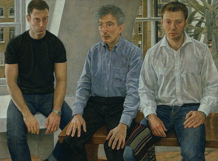 Antony Williams 'Father & Sons' egg tempera group portrait