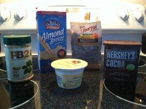 I just do almond milk, banana, and chocolate PB2, and it is SO GOOD!  LOVE PB2!
